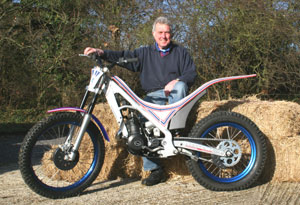 Richard Deal with New Greeves Trial Bike